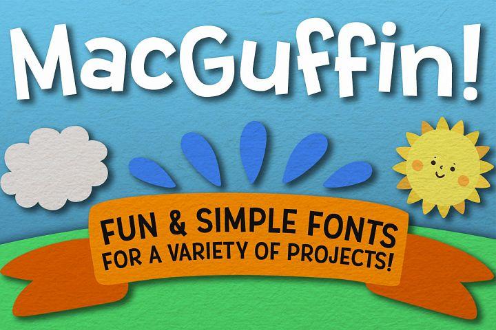 MacGuffin fun font set