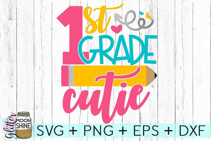 1st Grade SVG DXF PNG EPS Cutting Files
