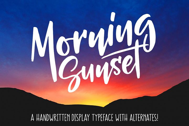 Morning Sunset - Free Font of The Week