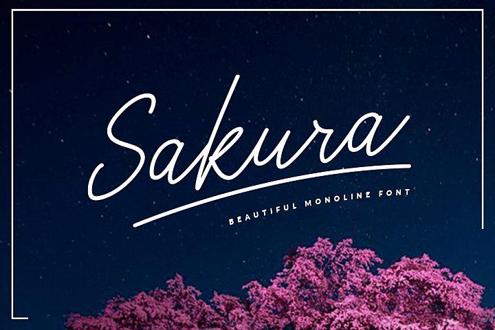 Sakura Font Set