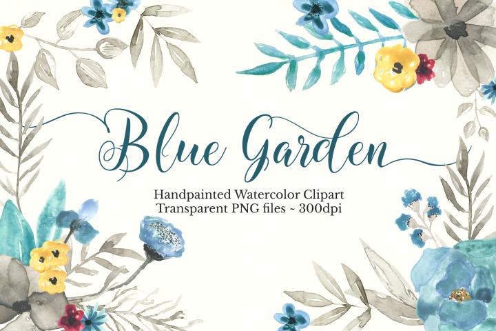 Watercolor Floral Clipart Set
