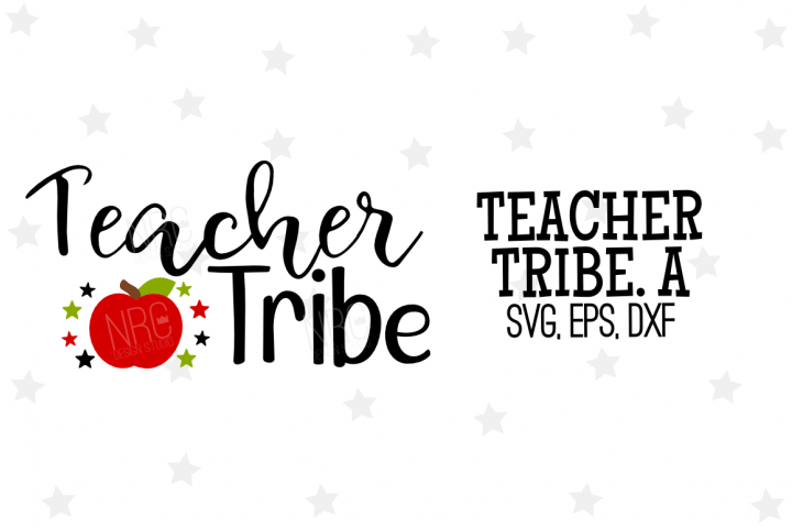 Teacher Tribe SVG File, Apple