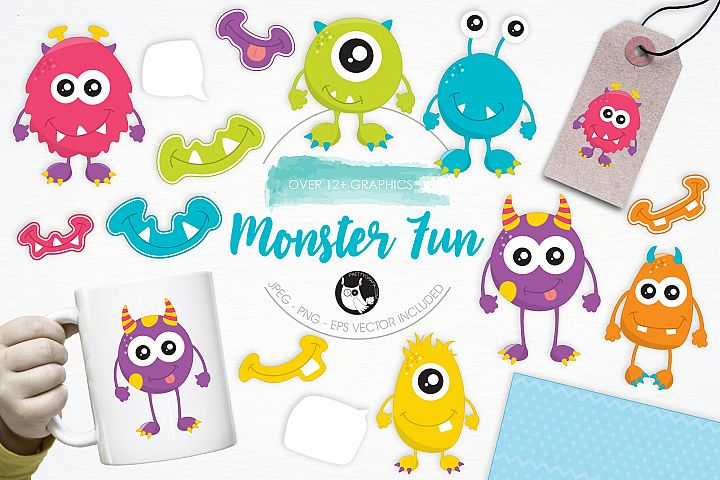 Monster Fun graphics and illustrations