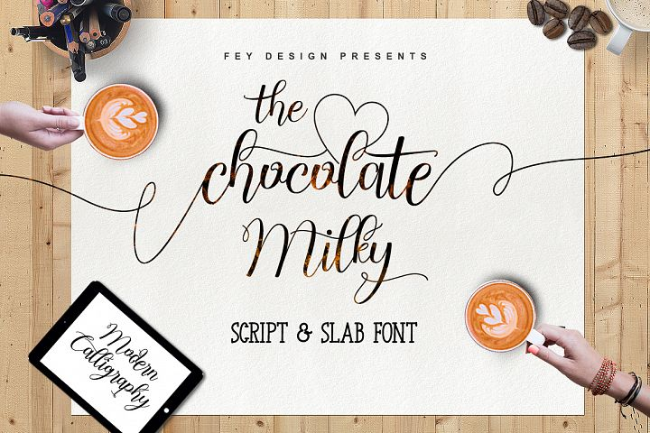 Chocolate Milky - Font Duo