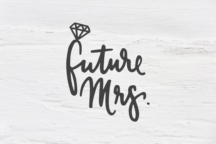 Future Mrs. wedding SVG, EPS, PNG, DXF