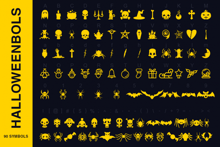 Symbols Font Collection - 450 Elements - Free Font of The Week Design 2