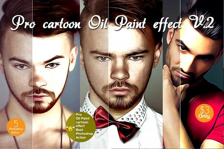 Professional cartoon Oil Paint effect v.2