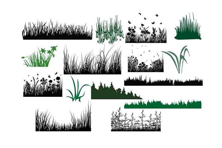 Grass silhouette SVG DXF PNG EPS AI