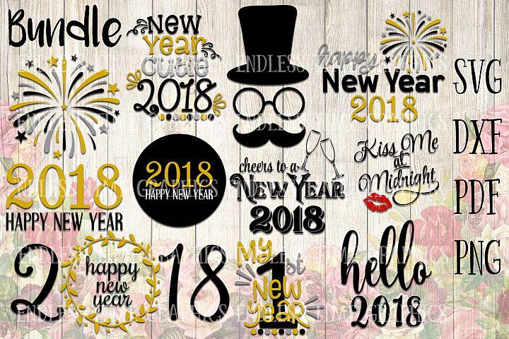 New Year SVG. New Year Bundle. 2018 SVG Bundle. Happy New Year 2018.  My 1st New Year Svg. Happy New Year Cut File