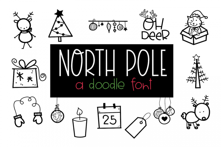 North Pole - A Christmas / Winter Doodles Font