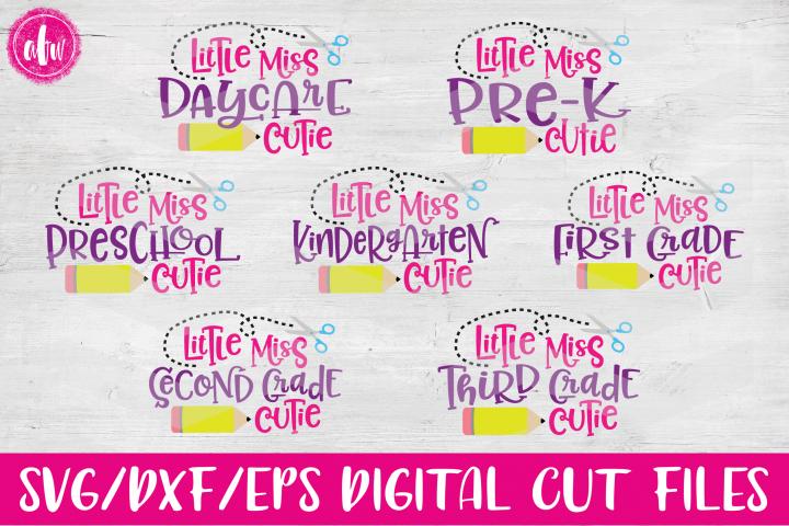 Lil Miss School Cutie Bundle - SVG, DXF, EPS Cut Files