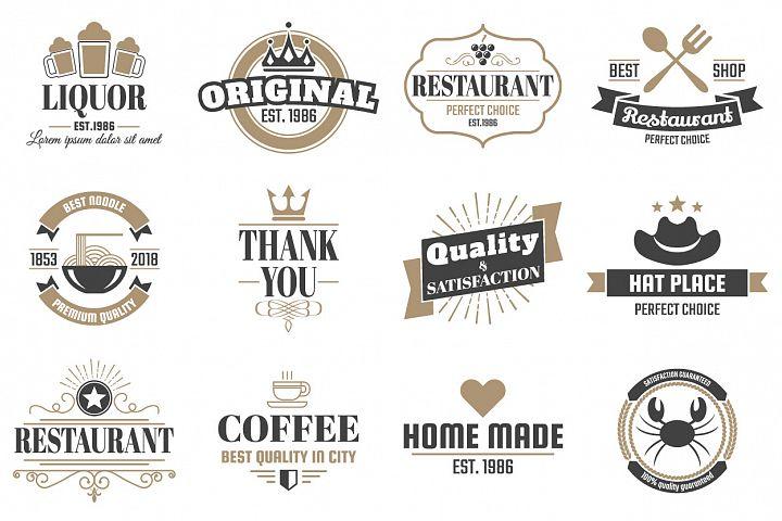 60 Vintage Logo Set example 5