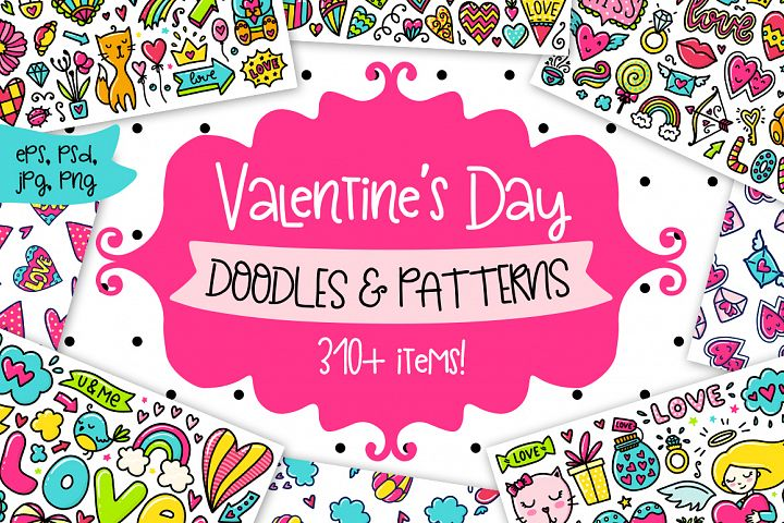 Valentines Day Clipart & Patterns!