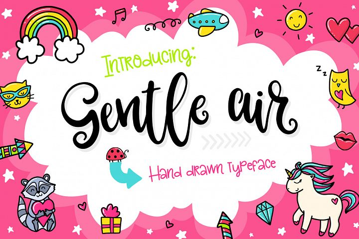Gentle Air Typeface