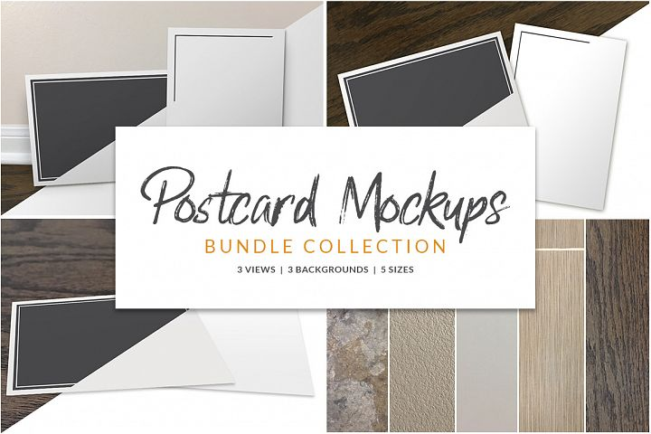 Postcard Mockup Bundle