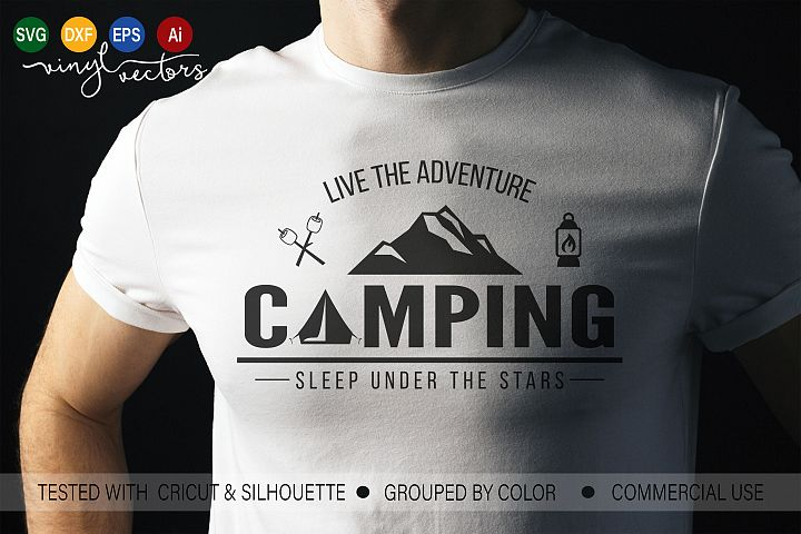 Live the adventure camping SVG DXF cut ready file