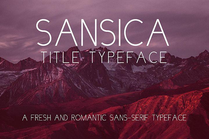 Sansica Title Font