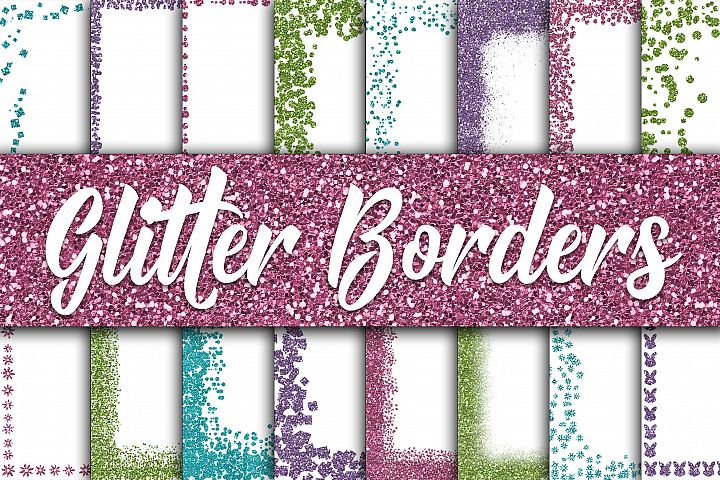 Easter Glitter Borders Digital Paper