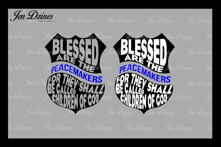 Blessed are the Peacemakers Badge SVG DXF EPS PNG