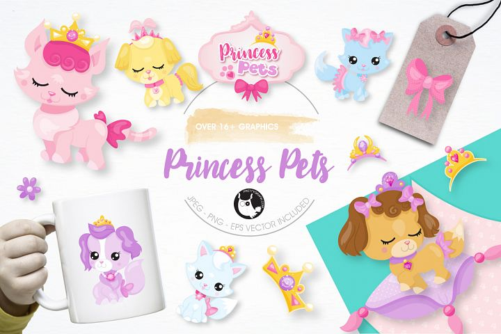 princess pets graphics and illustrations