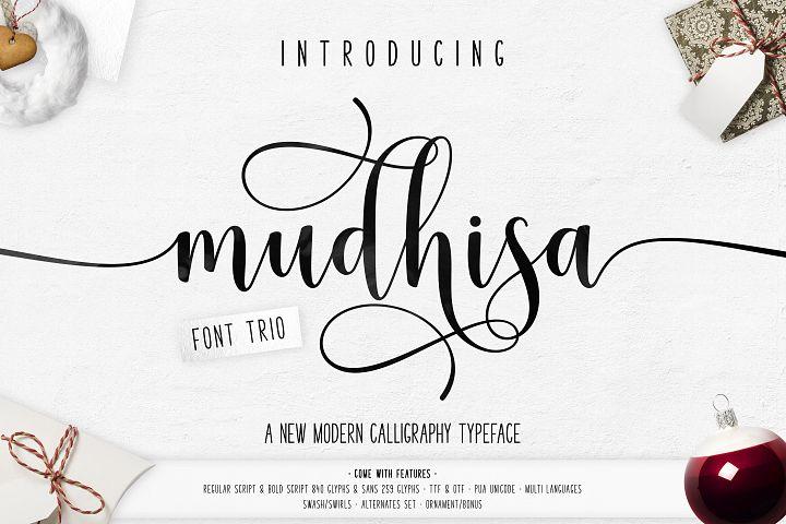 Mudhisa Script Font Trio