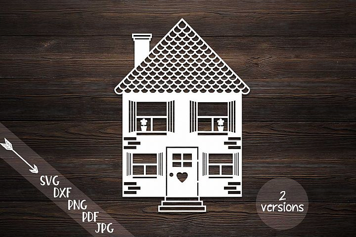 house svg, home svg, building cut file, papercut papercutting template, laser cut, family svg, set bundle, commercial use, dutch house, pdf
