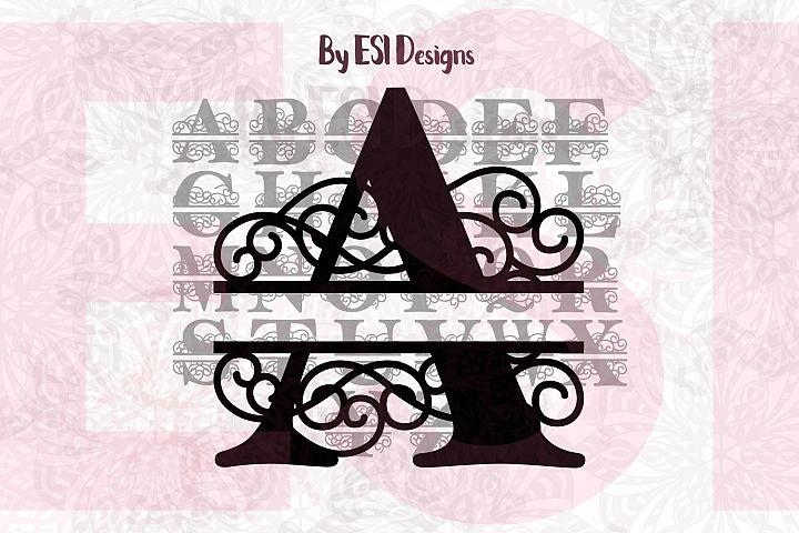 ES Swirl, Split Monogram Alphabet - A-Z