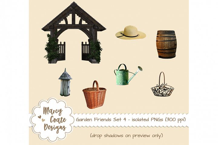 Garden Friends Set 4 - Gardening Objects isolated PNGs