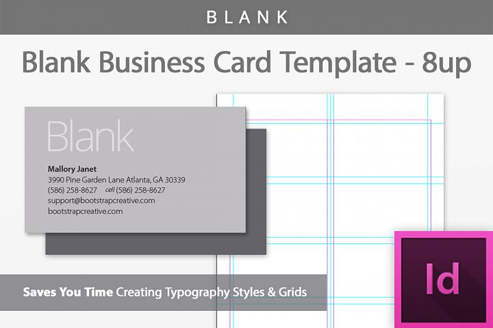 Blank Business Card InDesign Template