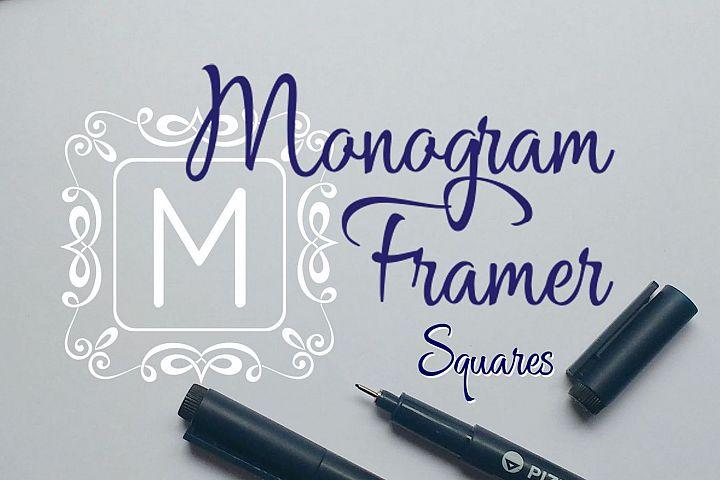 Square Monogram Framer