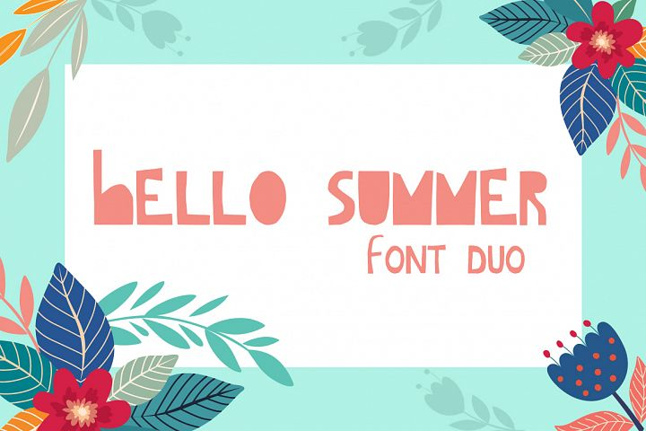 Hello Summer Cutout Font