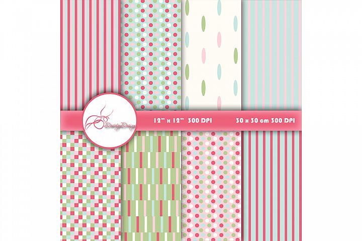 Digital Papers Stripes and Lines
