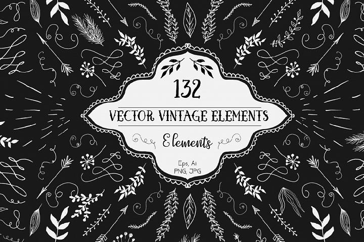 Vector Vintage Elements