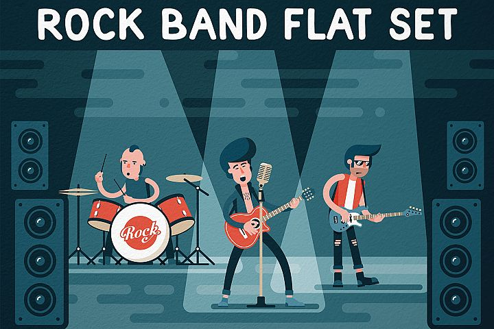 Rock Band Flat Set