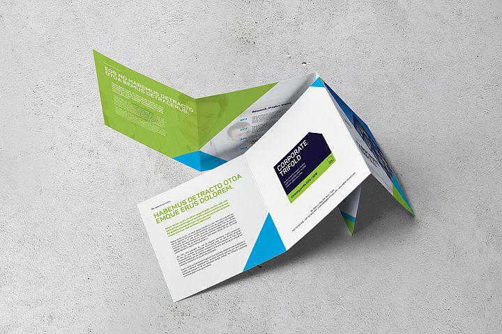 Corporate Square Trifold Brochure