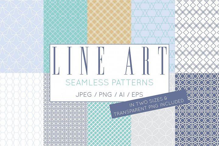 Geometric Line Art Digital Papers