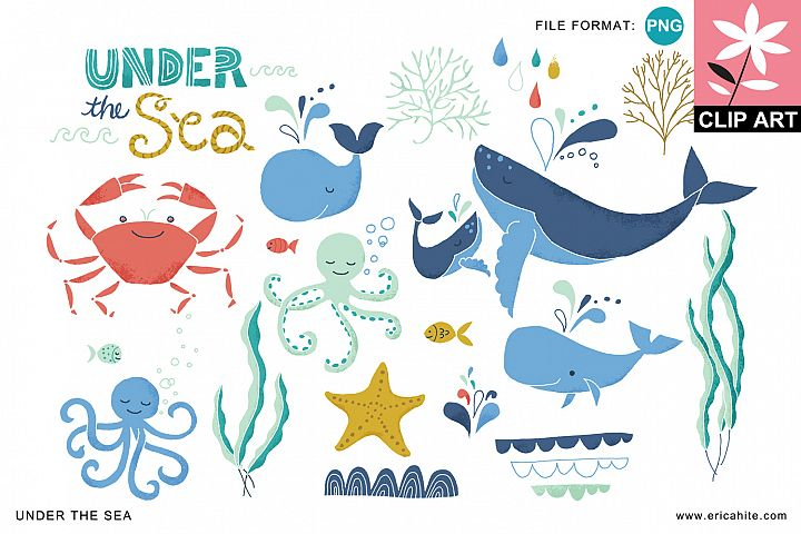 Under the Sea: Clip Art (PNG)