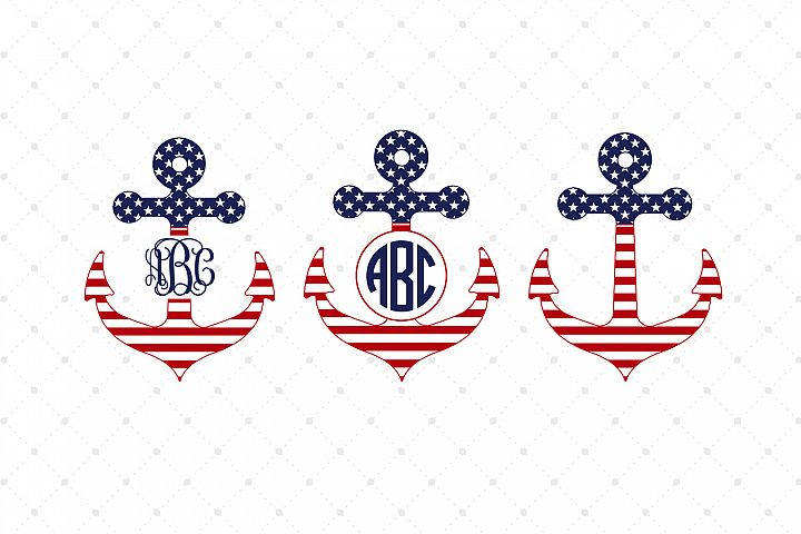 4th of July Anchors SVG Cut Files