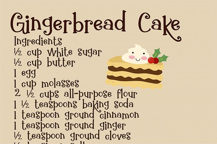 ZP Gingerbread Cake - Free Font of The Week Design 4