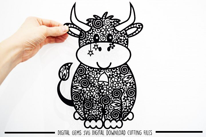 Cow paper cut SVG / DXF / EPS files