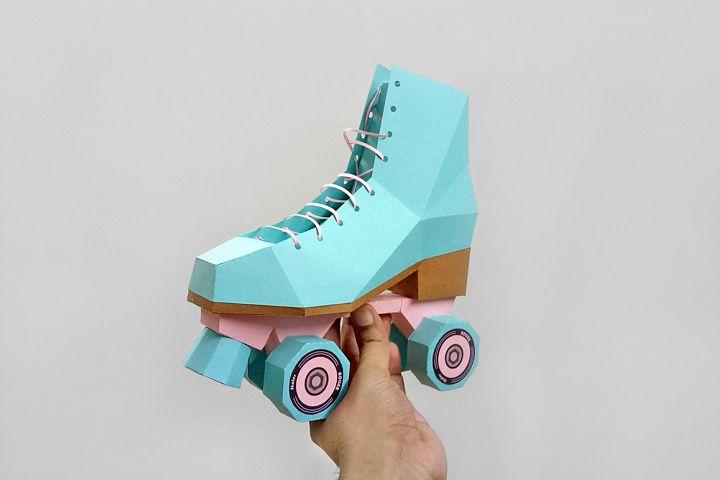 DIY Roller Skate shoes - 3d papercraft