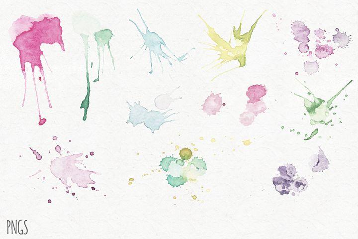 Watercolor Splatters example 2