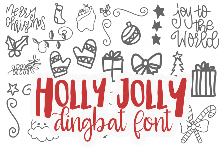 Holly Jolly Dingbat TTF