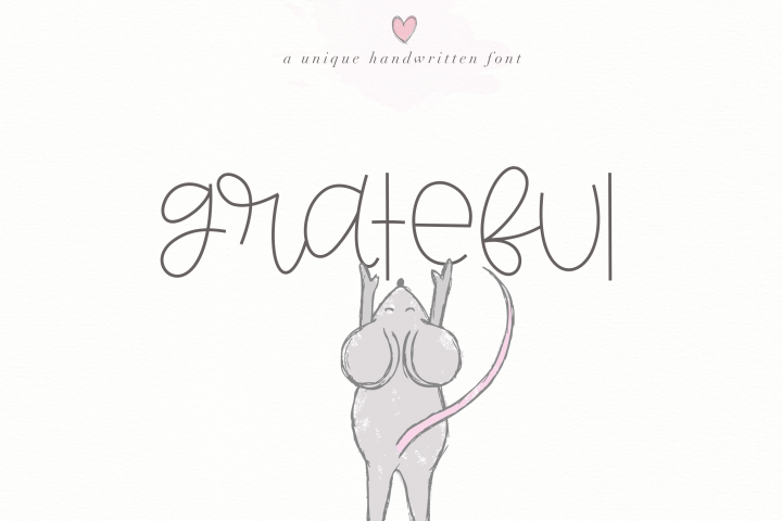 Grateful - Handwritten Font