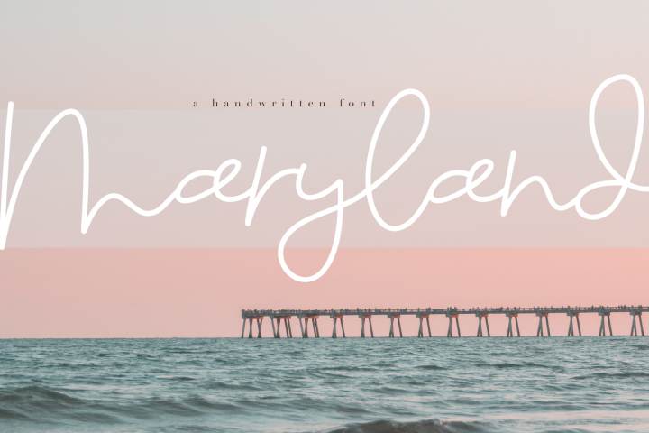 Maryland - A Fun Script Font