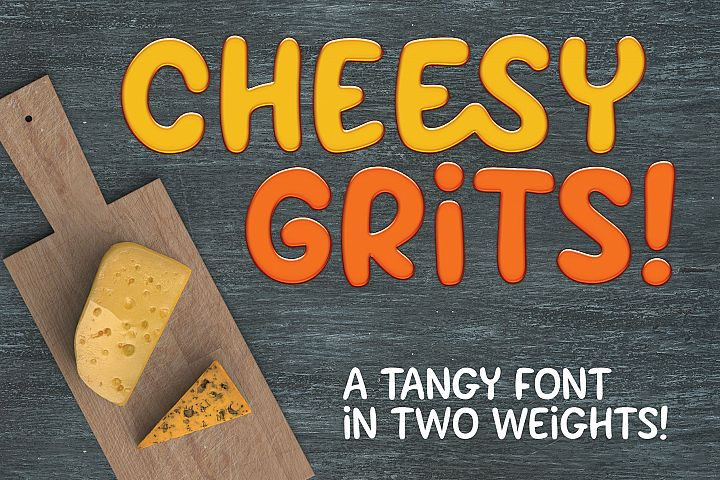 Cheesy Grits: a tangy font in 2 weights!
