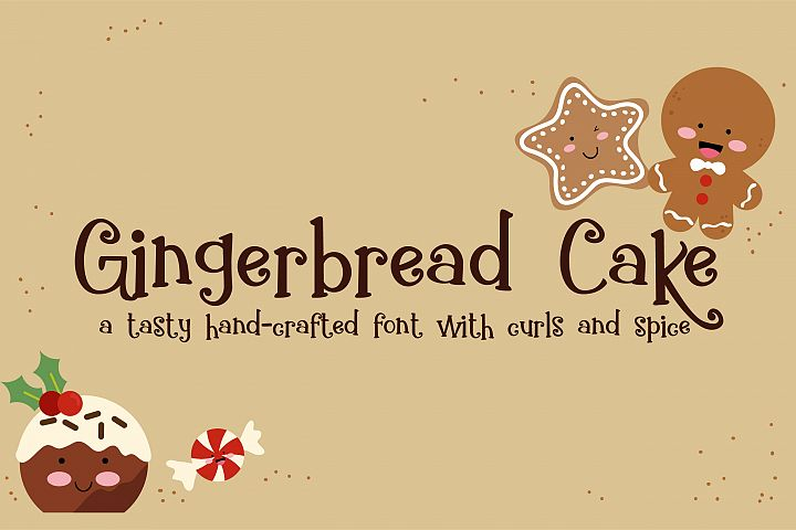 ZP Gingerbread Cake - Free Font of The Week