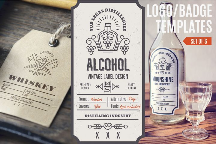 Distilling Industry: Vintage Labels