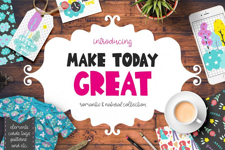 Make Today Great - Clipart Set