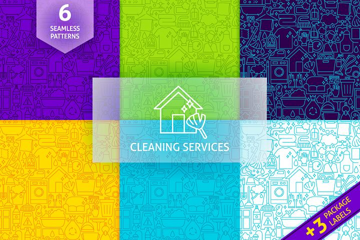 Cleaning Services Line Tile Patterns